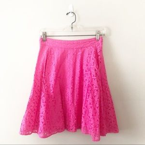 Lilly Pulitzer Meadow Lace Skirt Pink